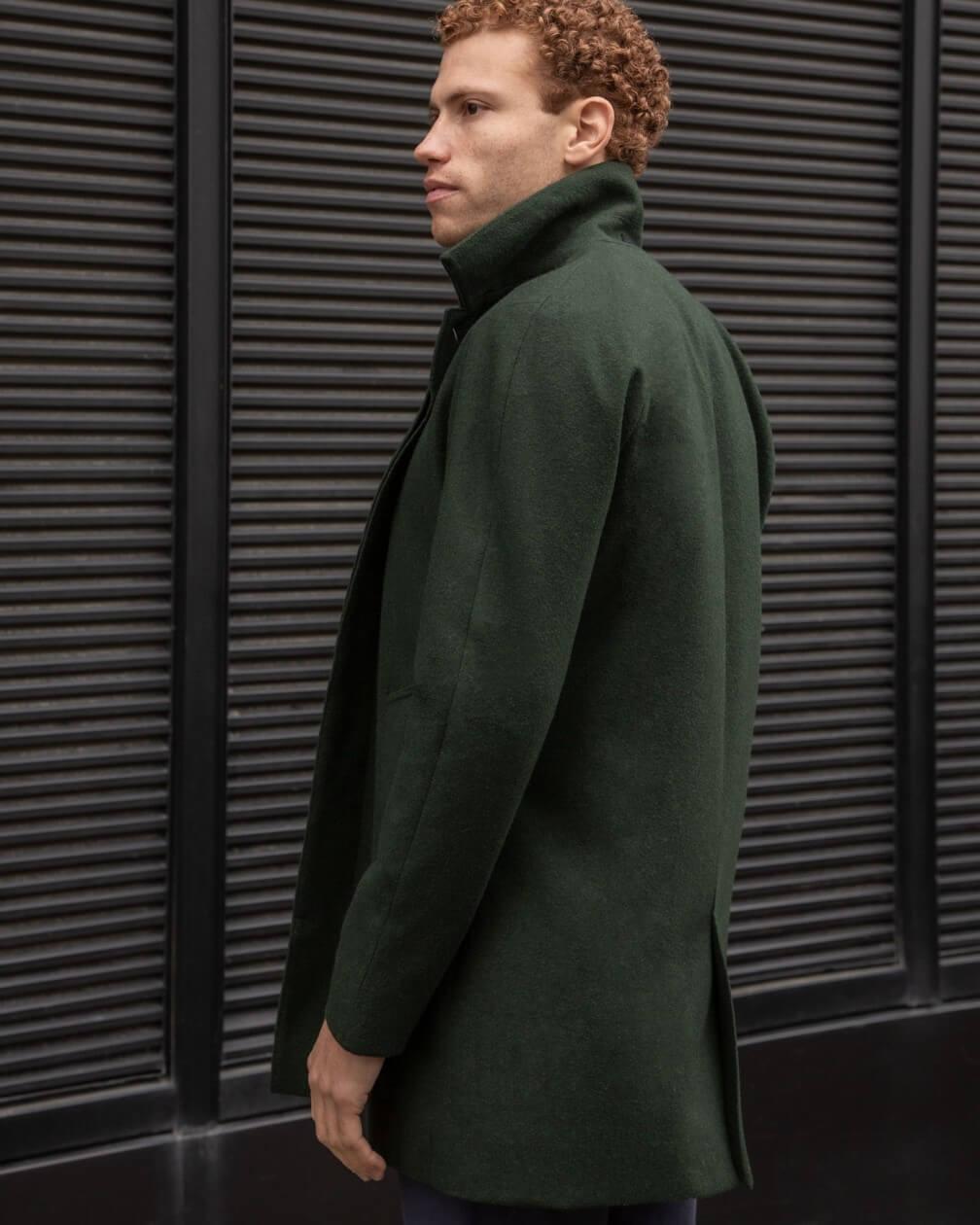 Mackintosh Sorbonne imperméable et coupe-vent en laine laminée vert