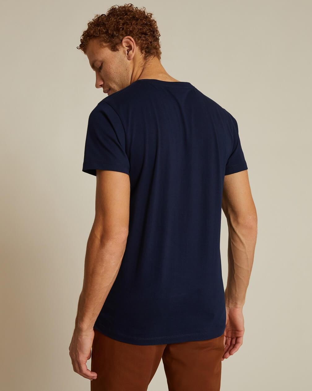 T-shirt Villette marine en coton