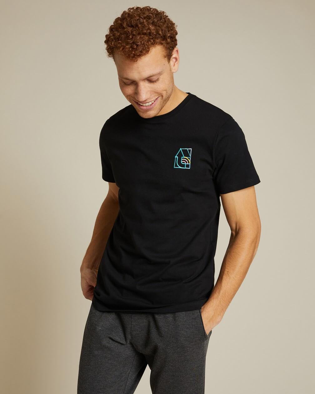 T-shirt Villette x Thomas Lateur noir