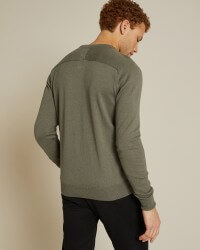 Pull a col rond monceau