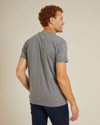 T-shirt Villette anthracite en coton