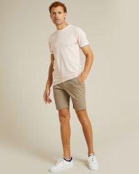T-shirt Montsouris rose en coton épais