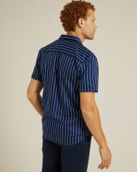 Chemise Pigalle à rayures bleues