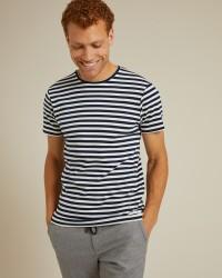 T-shirt Jemmapes en coton à rayures marines