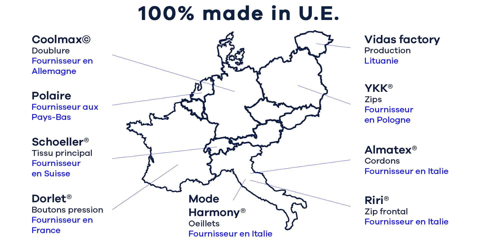 100% made in U.E.